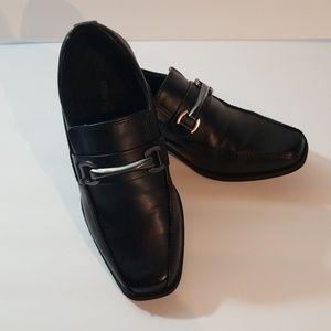 Boys Black Dress Shoes Slip On Size 13